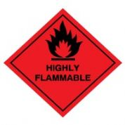 Hazard safety sign - Highly Flammable 041